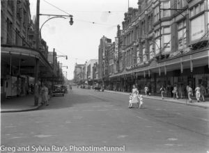 Hunter Street, Newcastle, NSW, March 1945.