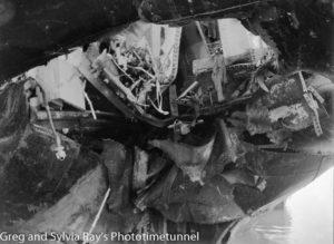 The torpedo-damaged ship Allara in Newcastle Harbour, July 1942. (16)