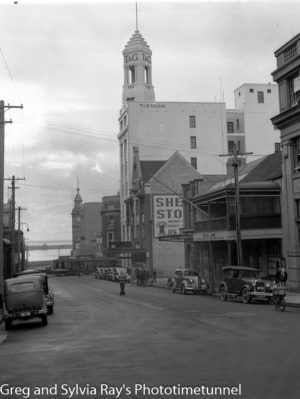 Watt Street, Newcastle, looking towards the harbour, July 15, 1937.