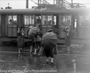 Tram passengers, Scott Street Newcastle, March 18, 1939.
