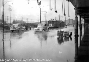 Flooding in Hunter Street, Newcastle, March 2, 1943.