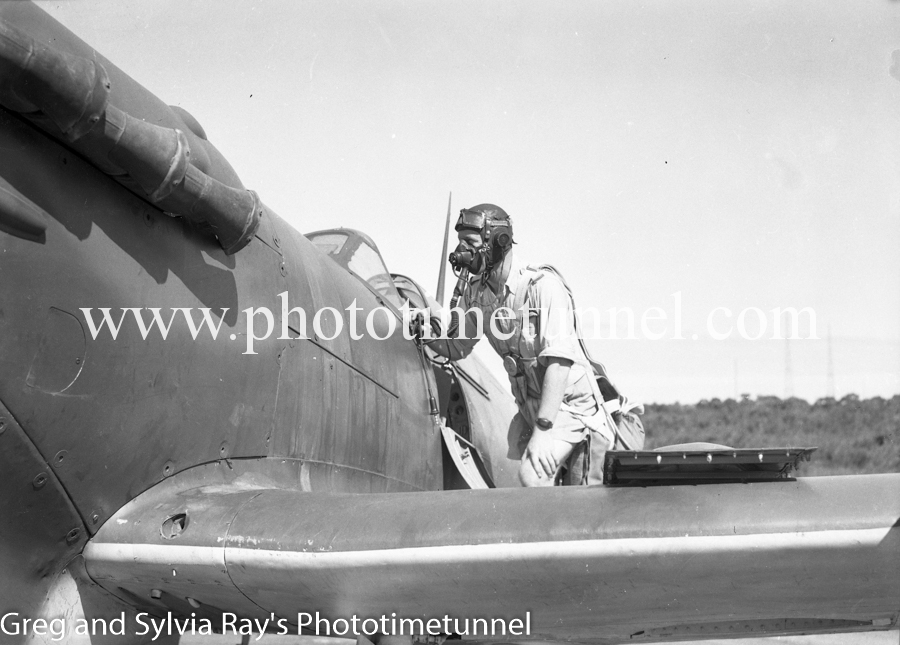 Spitfire fighters at Williamtown RAAF base Newcastle. April 1, 1943. (13)