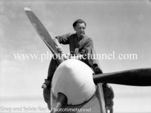 Spitfire fighter at Williamtown RAAF base Newcastle. April 1, 1943. (15)