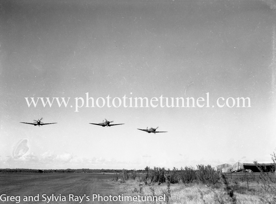 Spitfire fighters at Williamtown RAAF base Newcastle. April 1, 1943. (17)