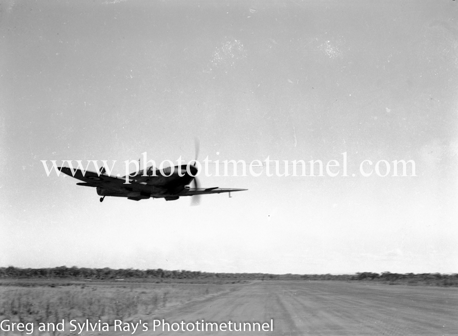 Spitfire fighter at Williamtown RAAF base Newcastle. April 1, 1943. (19)