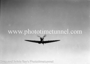 Spitfire fighters at Williamtown RAAF base Newcastle. April 1, 1943. (20)