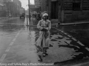 Rainy Day on Bolton Street, Newcastle, circa 1940s.