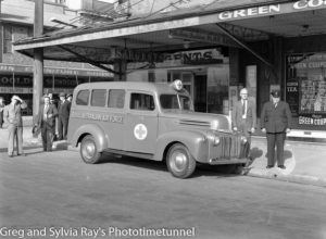 A new RAAF ambulance on Hunter Street, June 2, 1945.