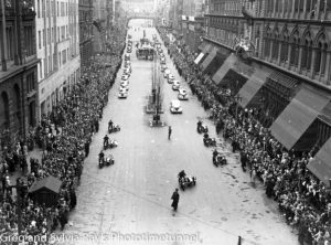 Parade for the return of the AIF's 9th Division in Sydney, April 2, 1943. (5)
