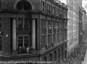 Parade for the return of the AIF's 9th Division in Sydney, April 2, 1943. (7)