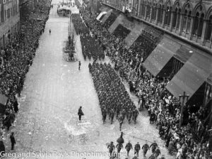 Parade for the return of the AIF's 9th Division in Sydney, April 2, 1943. (8)
