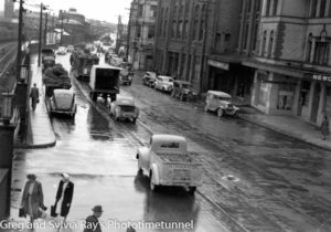 Rainy day in Scott Street Newcastle, NSW, February 14, 1947. (2)