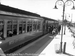 Catholic church group train trip to Manly about to depart from Hamilton Station, November 16, 1935. (2)