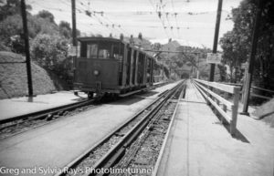 Tram at Kelburn, Wellington, New Zealand.