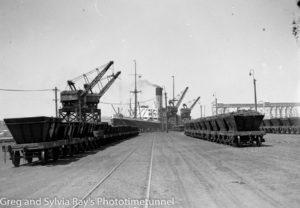 The ship Nestor at the coal cranes. 28-10-1936.