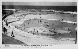 Postcard of Newcastle's Young Mariners Pool.