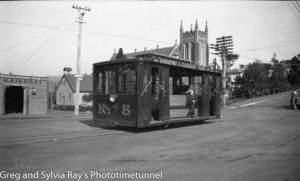 Tram in Taieri Road, Dunedin, New Zealand, c1933.