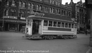 Tram in Christchurch, New Zealand, c1933