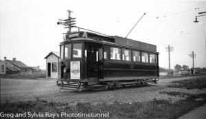 Tram at Invercargill, New Zealand, c1933.