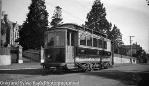 Tram in Dunedin, New Zealand, c1933. (2)