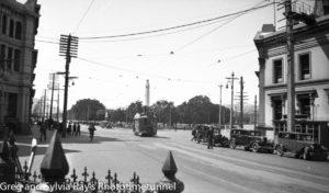 Tram in Dunedin, New Zealand, c1933.