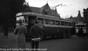 Trolley bus at Christchurch, New Zealand.