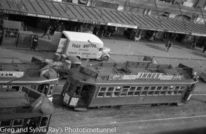 Trams in Auckland, New Zealand.