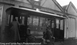 Tram at Dunedin, New Zealand.