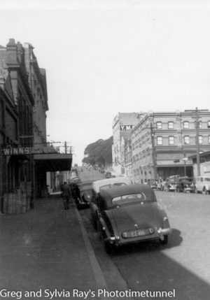 King Street, Newcastle, looking east. Circa 1950