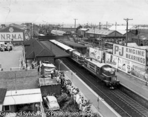 Royal train at Civic Station, Newcastle, 1954.