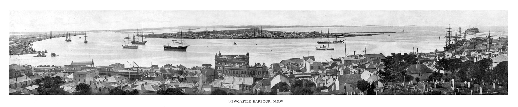 Panorama of Newcastle, circa 1902.
