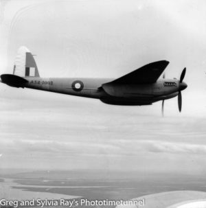 Mosquito aircraft photographed over the Newcastle area during World War 2. (3)