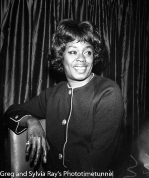American jazz singer Sarah Vaughan in Sydney, June 4, 1965.