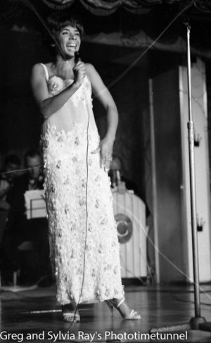 Shirley Bassey performing at Chequers Nightclub, Sydney, March 31, 1965. (2)