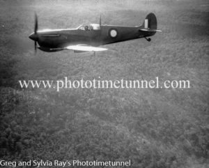 Spitfire flying over the Newcastle area during World War 2. (3)