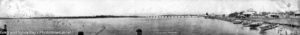 Panoramic view from the public wharf, Swansea. Circa 1920s