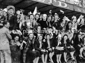 Party time: celebrations in Newcastle, NSW, for the end of World War 2, August 15, 1945.