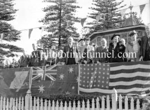 Thanksgiving service  in King Edward Park, Newcastle, NSW, at the end of World War 2, August 15, 1945.