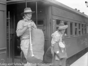 Troops for the British Commonwealth Occupation Force bound for Japan. Photographed at West Maitland Railway Station on March 3, 1946. (5)