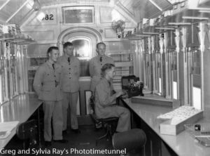 Inside the carriage of a Royal Australian Air Force recruiting train, December 16, 1940.