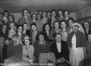 Daylight air raid shelter drill, Newcastle, NSW, September 1, 1942. Interior view of shelter. (3)