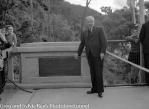 Official opening of the road bridge over the Hawkesbury River, May 5, 1945