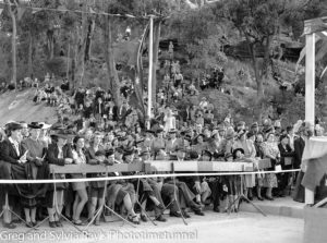 Crowd at the official opening of the road bridge over the Hawkesbury River, May 5, 1945.