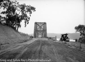 Hawkesbury River road bridge construction, circa 1945. (3)