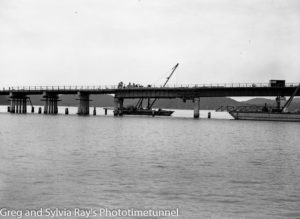 Hawkesbury River road bridge construction, circa 1945. (4)