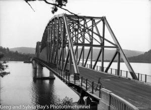Hawkesbury River road bridge construction, circa 1945. (5)