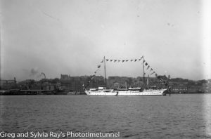 The armed sloop Fantome in Newcastle Harbour. Circa 1921.