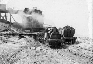 Coal train at Glenrock Colliery, Newcastle NSW circa 1940s.