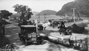 Hawkesbury River vehicular ferry, circa 1930s.