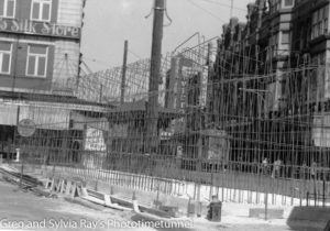 Air-raid shelter under construction between Hunter and Scott Streets, Newcastle, February 19, 1942. (2)